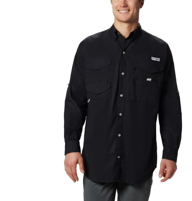 Bonehead™ LS Shirt   010   XXL Men's PFG Bonehead™ Long Sleeve Shirt, Black, front