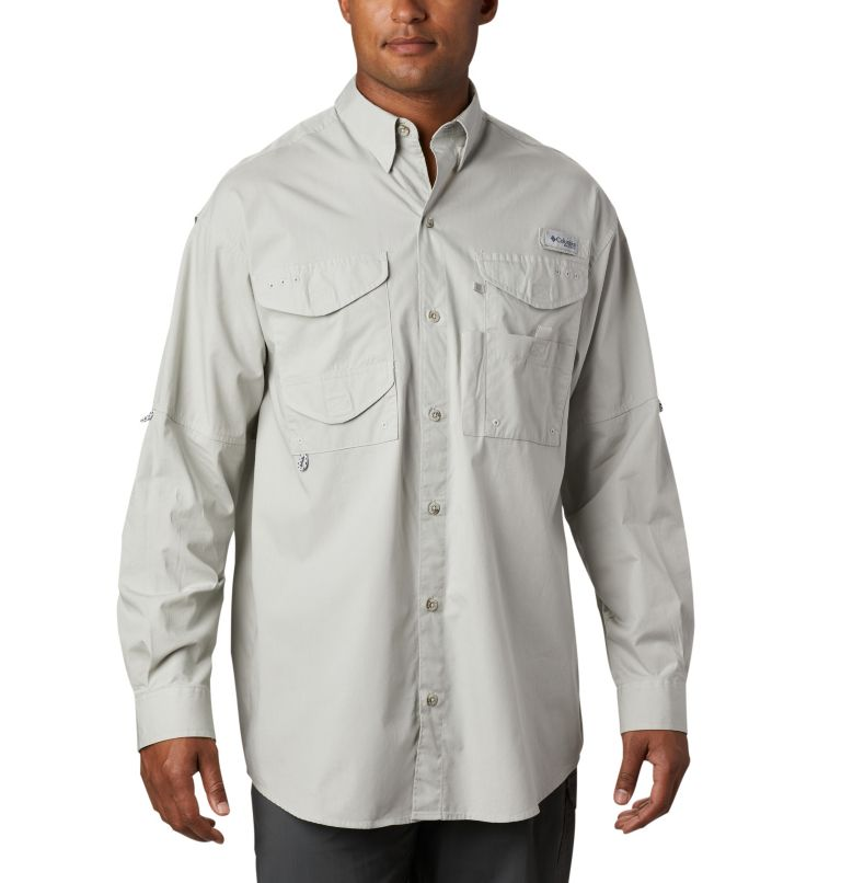 Bonehead™ LS Shirt | 019 | XL Men's PFG Bonehead™ Long Sleeve Shirt, Cool Grey, front