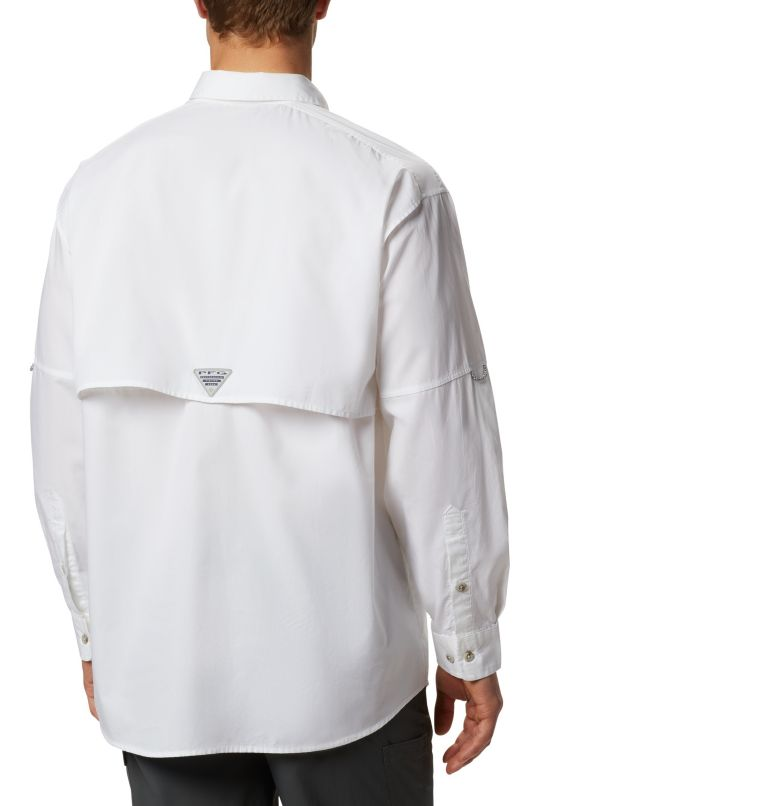 Bonehead™ LS Shirt | 100 | L Men's PFG Bonehead™ Long Sleeve Shirt, White, back