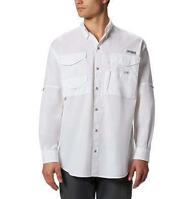 Men's PFG Bonehead™ Long Sleeve Shirt Bonehead™ LS Shirt | 019 | XXS, White, front