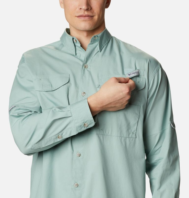 Bonehead™ LS Shirt | 345 | L Men's PFG Bonehead™ Long Sleeve Shirt, Aqua Tone, a2
