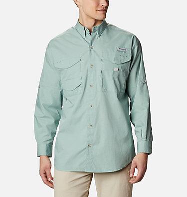 Men's PFG Bonehead™ Long Sleeve Shirt Bonehead™ LS Shirt | 019 | XXS, Aqua Tone, front