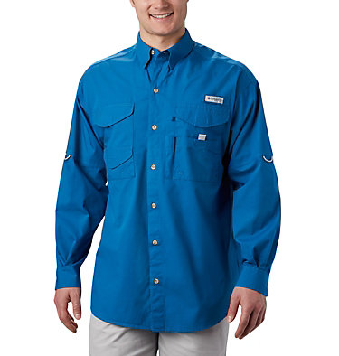 Men's PFG Bonehead™ Long Sleeve Shirt Bonehead™ LS Shirt | 019 | XXS, Dark Pool, front
