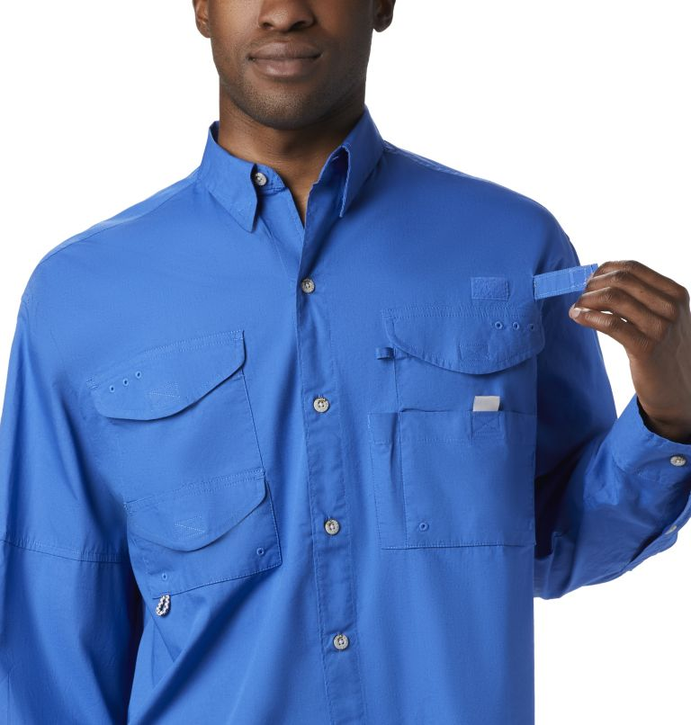 Bonehead™ LS Shirt | 487 | XS Men's PFG Bonehead™ Long Sleeve Shirt, Vivid Blue, a1