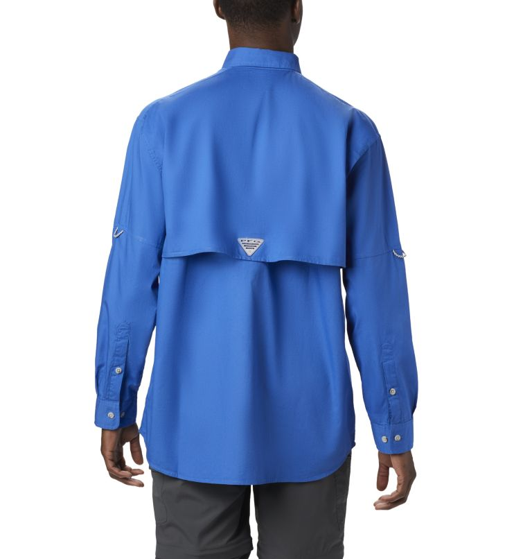 Bonehead™ LS Shirt | 487 | XS Men's PFG Bonehead™ Long Sleeve Shirt, Vivid Blue, back