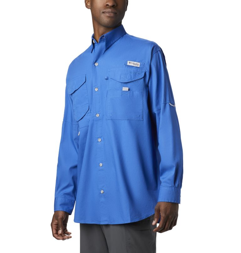 Bonehead™ LS Shirt | 487 | XS Men's PFG Bonehead™ Long Sleeve Shirt, Vivid Blue, front