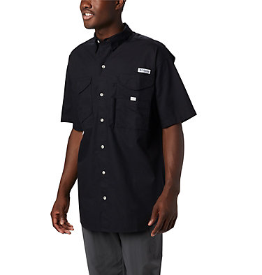 Men's PFG Bonehead™ Short Sleeve Shirt Bonehead™ SS Shirt | 697 | L, Black, front