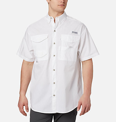 Men's PFG Bonehead™ Short Sleeve Shirt Bonehead™ SS Shirt | 697 | L, White, front
