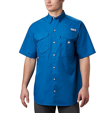 Men's PFG Bonehead™ Short Sleeve Shirt Bonehead™ SS Shirt | 023 | XXS, Dark Pool, front