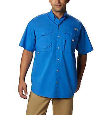 Men's PFG Bonehead™ Short Sleeve Shirt Bonehead™ SS Shirt | 697 | L, Vivid Blue, front