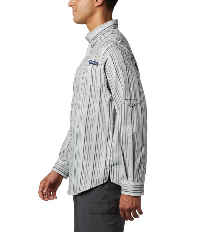 Super Tamiami™ LS Shirt | 012 | S Men's PFG Super Tamiami™ Long Sleeve Shirt, Cool Grey Small Check, a1