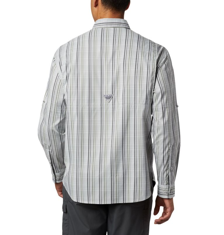 Super Tamiami™ LS Shirt | 012 | S Men's PFG Super Tamiami™ Long Sleeve Shirt, Cool Grey Small Check, back