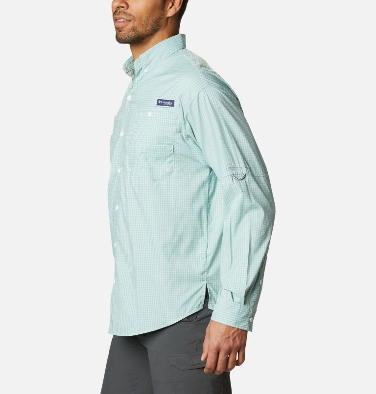 Super Tamiami™ LS Shirt | 346 | M Men's PFG Super Tamiami™ Long Sleeve Shirt, Aqua Tone Gingham, a1