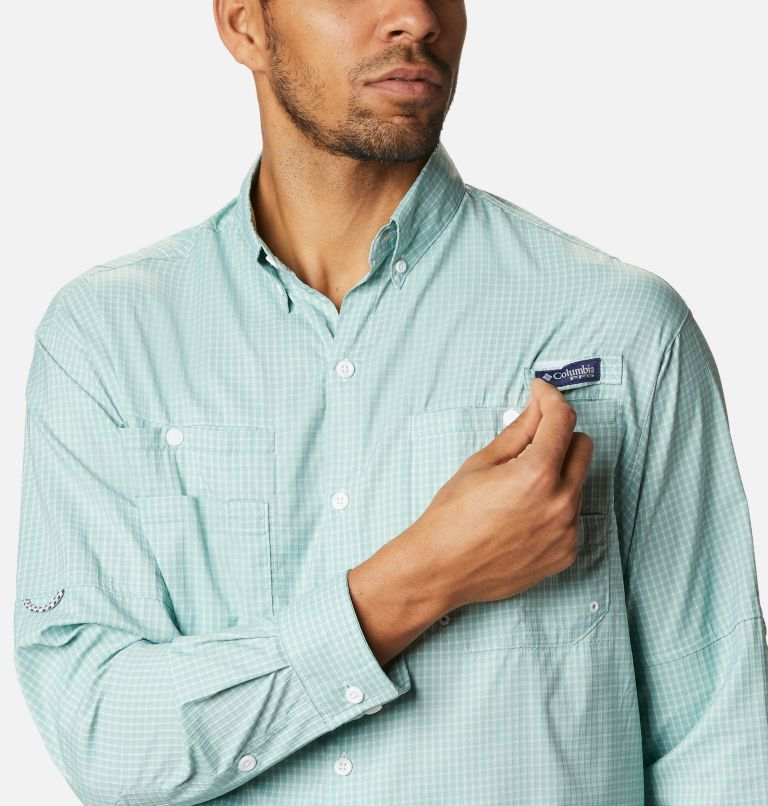 Super Tamiami™ LS Shirt | 346 | XL Men's PFG Super Tamiami™ Long Sleeve Shirt, Aqua Tone Gingham, a2
