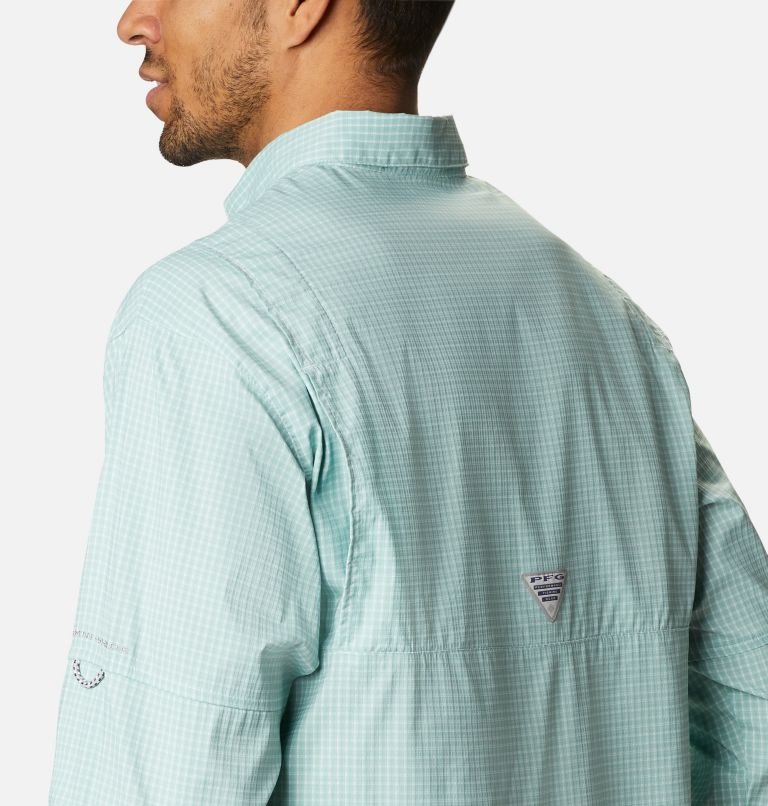 Super Tamiami™ LS Shirt | 346 | XL Men's PFG Super Tamiami™ Long Sleeve Shirt, Aqua Tone Gingham, a3