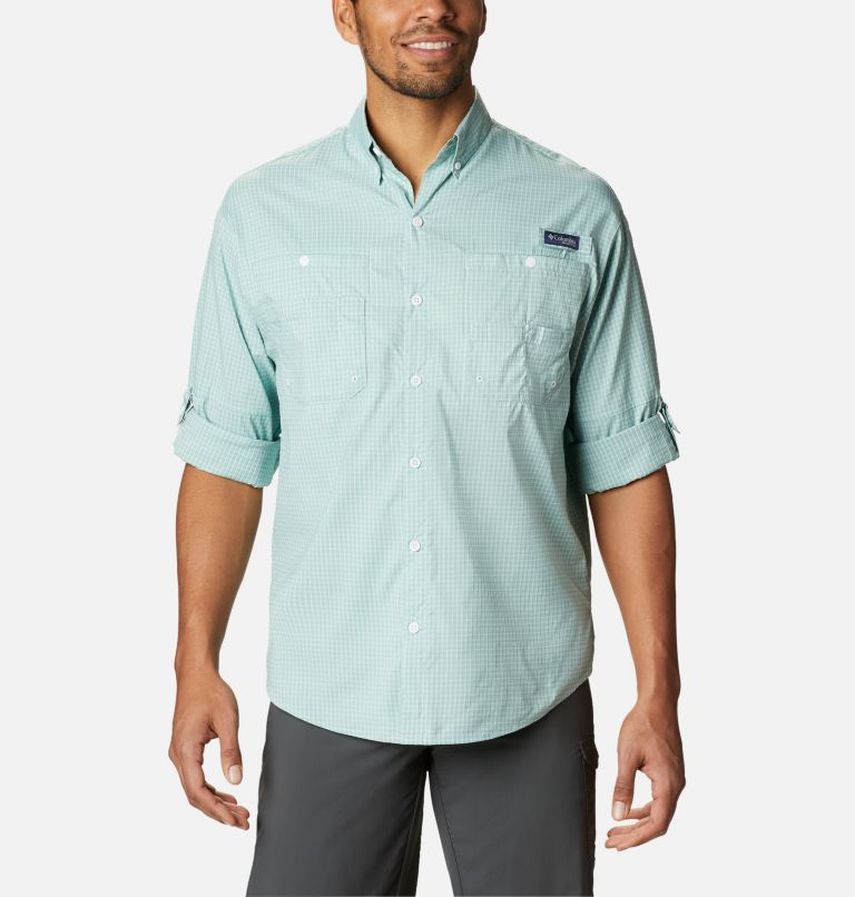 Super Tamiami™ LS Shirt | 346 | XL Men's PFG Super Tamiami™ Long Sleeve Shirt, Aqua Tone Gingham, a4