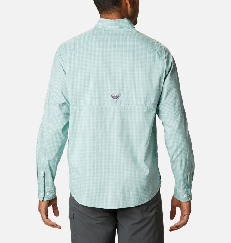 Super Tamiami™ LS Shirt | 346 | XL Men's PFG Super Tamiami™ Long Sleeve Shirt, Aqua Tone Gingham, back
