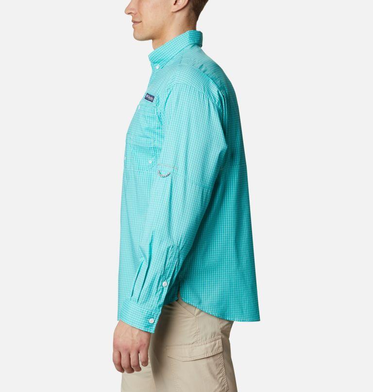 Super Tamiami™ LS Shirt | 455 | XL Men's PFG Super Tamiami™ Long Sleeve Shirt, Bright Aqua Gingham, a1