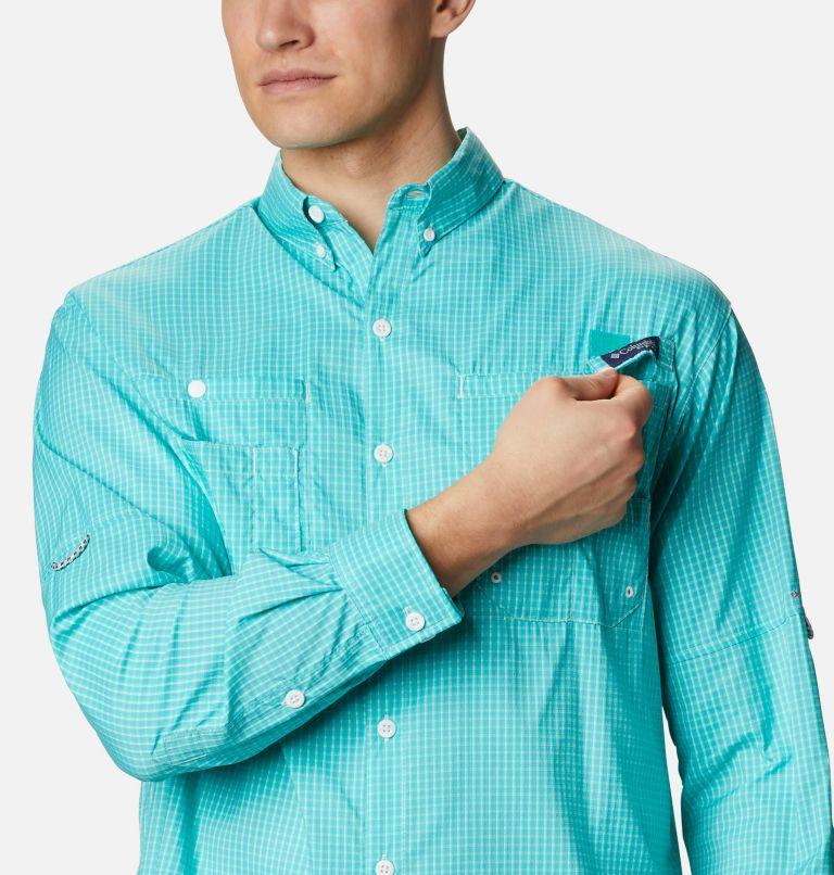 Super Tamiami™ LS Shirt | 455 | XL Men's PFG Super Tamiami™ Long Sleeve Shirt, Bright Aqua Gingham, a2