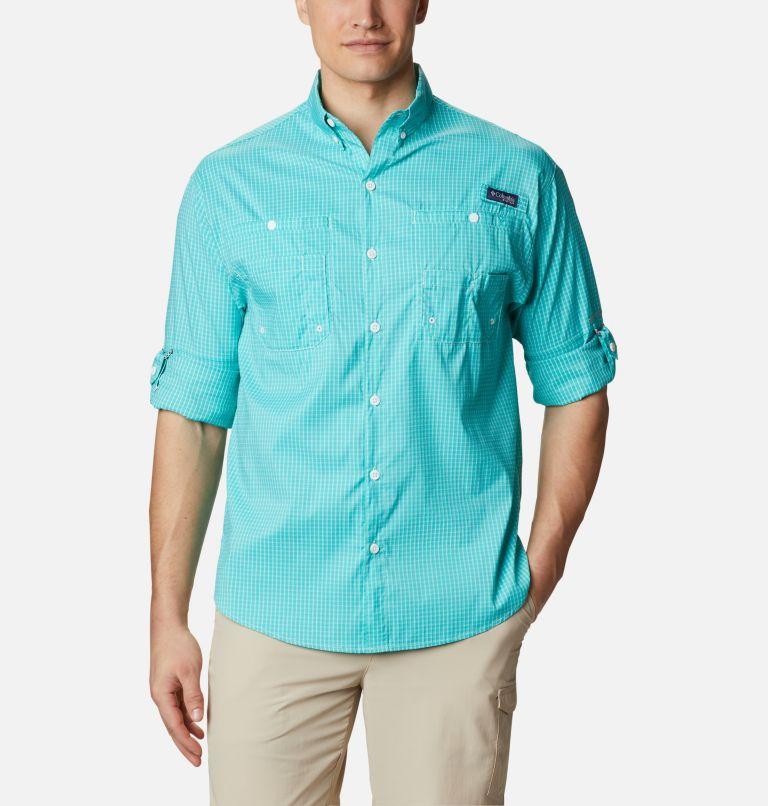 Super Tamiami™ LS Shirt | 455 | XL Men's PFG Super Tamiami™ Long Sleeve Shirt, Bright Aqua Gingham, a4