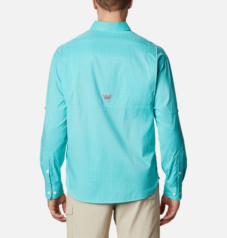 Super Tamiami™ LS Shirt | 455 | XL Men's PFG Super Tamiami™ Long Sleeve Shirt, Bright Aqua Gingham, back
