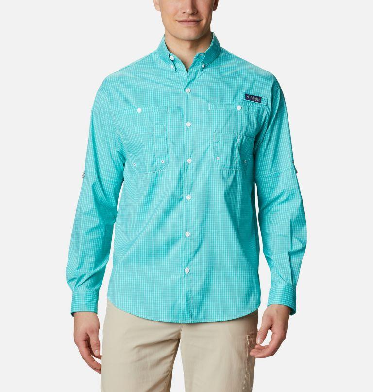 Super Tamiami™ LS Shirt | 455 | XL Men's PFG Super Tamiami™ Long Sleeve Shirt, Bright Aqua Gingham, front