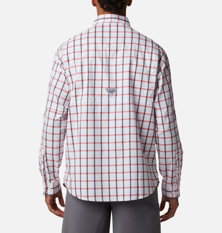 Super Tamiami™ LS Shirt | 468 | M Men's PFG Super Tamiami™ Long Sleeve Shirt, Collegiate Navy Plaid, back