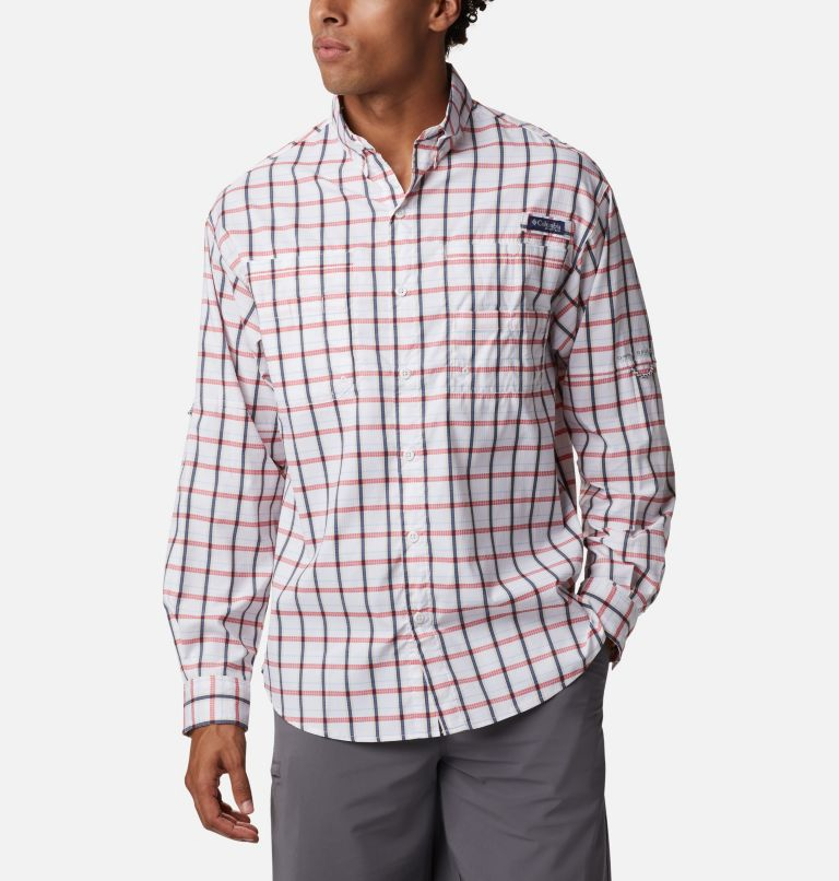 Super Tamiami™ LS Shirt | 468 | M Men's PFG Super Tamiami™ Long Sleeve Shirt, Collegiate Navy Plaid, front