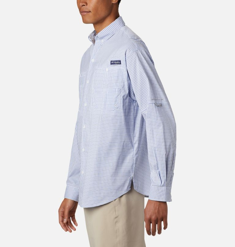 Super Tamiami™ LS Shirt | 498 | XL Men's PFG Super Tamiami™ Long Sleeve Shirt, Vivid Blue Gingham, a1