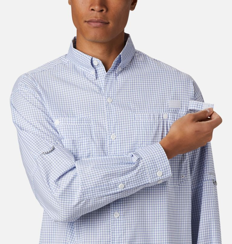 Super Tamiami™ LS Shirt | 498 | S Men's PFG Super Tamiami™ Long Sleeve Shirt, Vivid Blue Gingham, a3