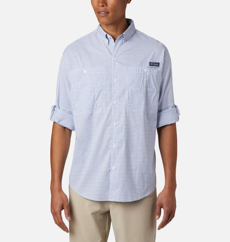 Super Tamiami™ LS Shirt | 498 | XL Men's PFG Super Tamiami™ Long Sleeve Shirt, Vivid Blue Gingham, a4