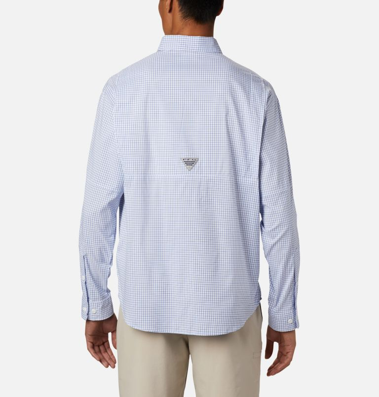 Super Tamiami™ LS Shirt | 498 | XL Men's PFG Super Tamiami™ Long Sleeve Shirt, Vivid Blue Gingham, back