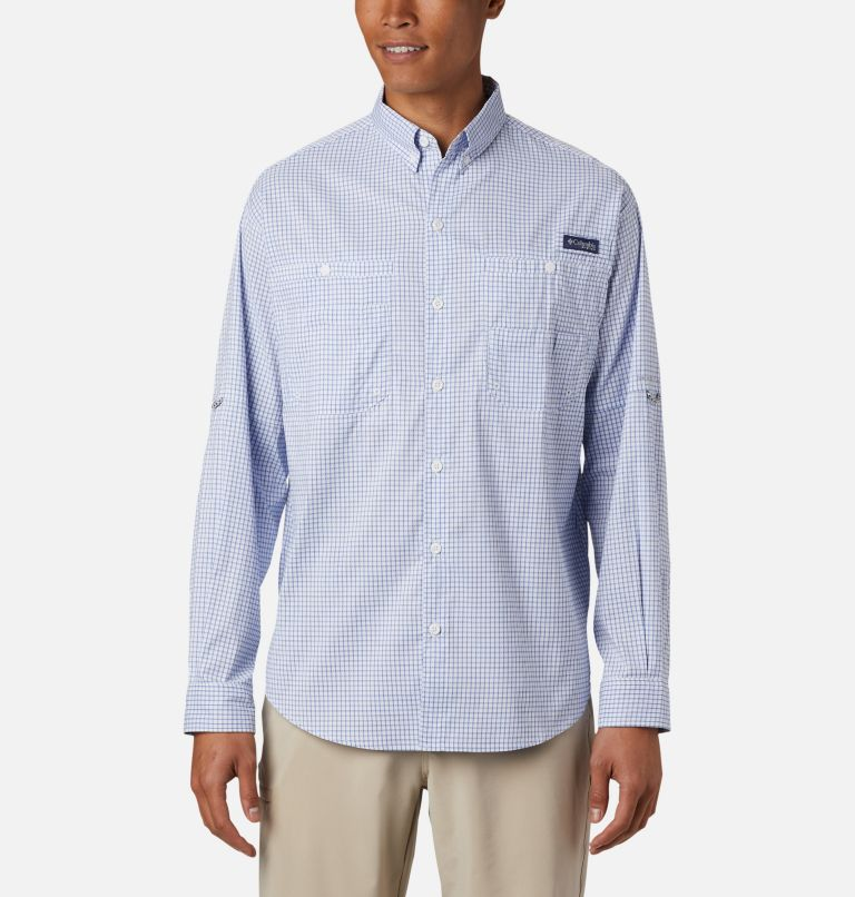 Super Tamiami™ LS Shirt | 498 | XL Men's PFG Super Tamiami™ Long Sleeve Shirt, Vivid Blue Gingham, front