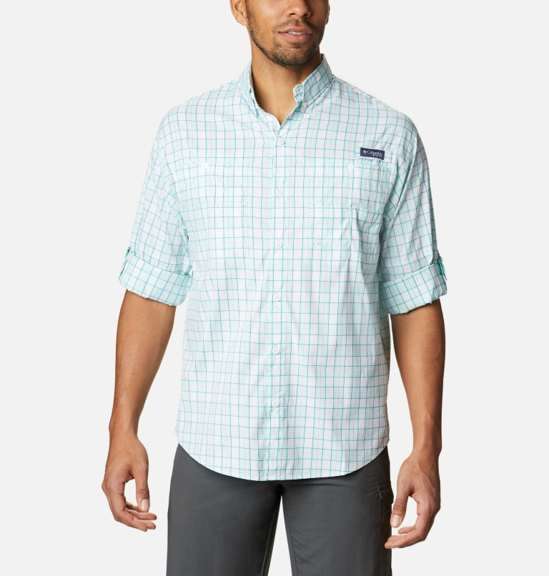 Super Tamiami™ LS Shirt | 504 | M Men's PFG Super Tamiami™ Long Sleeve Shirt, Gulf Stream Plaid, a4