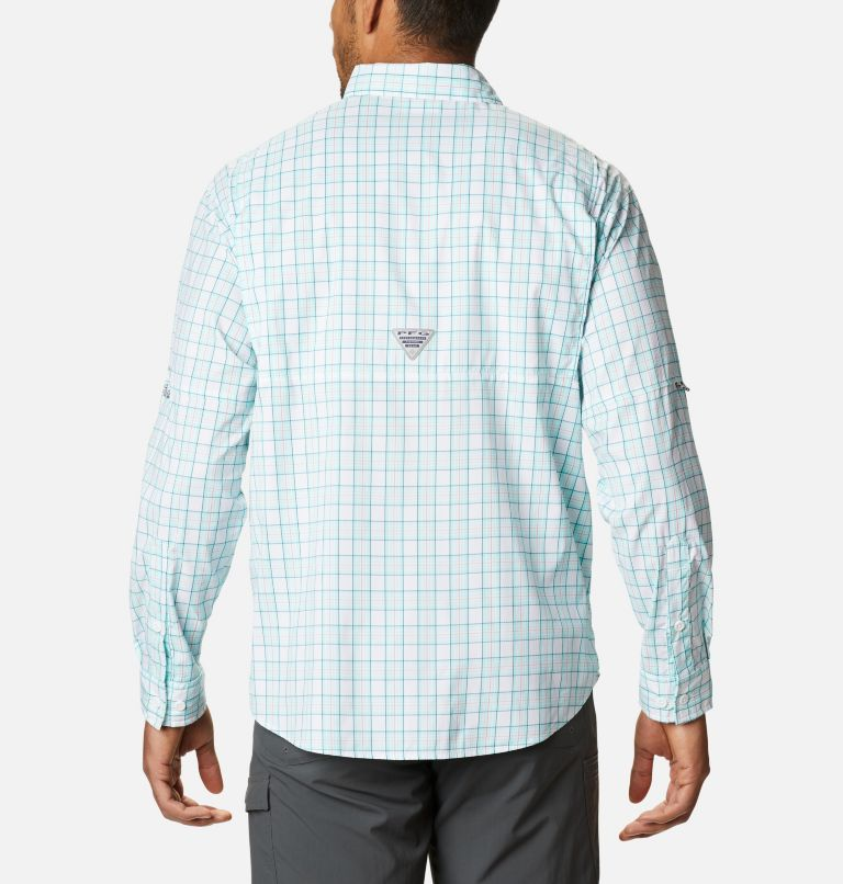 Super Tamiami™ LS Shirt | 504 | M Men's PFG Super Tamiami™ Long Sleeve Shirt, Gulf Stream Plaid, back