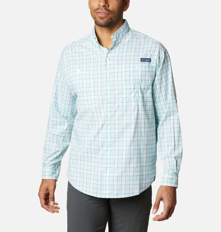 Super Tamiami™ LS Shirt | 504 | M Men's PFG Super Tamiami™ Long Sleeve Shirt, Gulf Stream Plaid, front