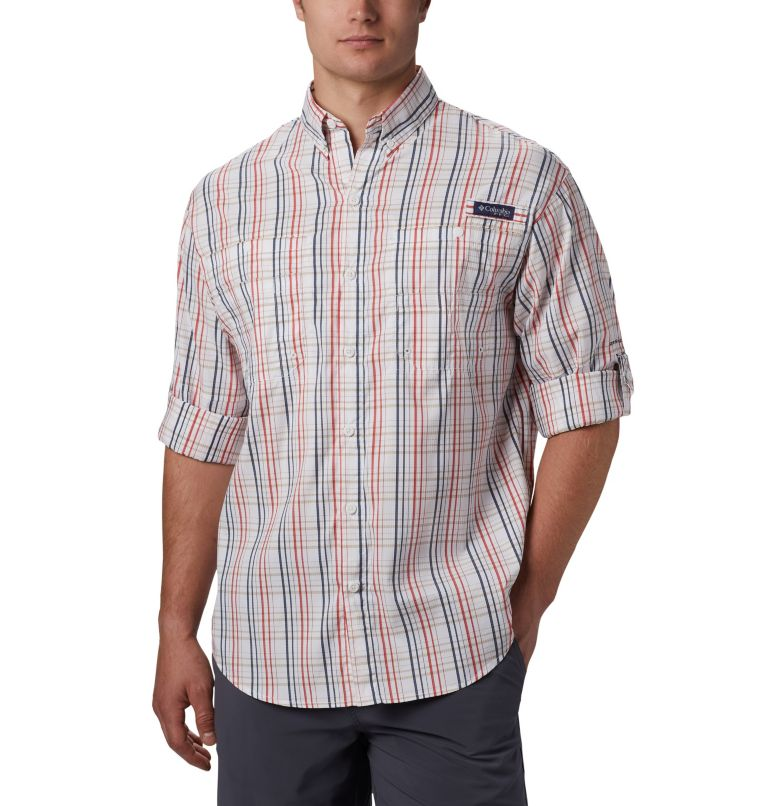 Super Tamiami™ LS Shirt | 697 | S Men's PFG Super Tamiami™ Long Sleeve Shirt, Red Spark Small Check, a1