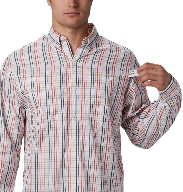 Super Tamiami™ LS Shirt | 697 | S Men's PFG Super Tamiami™ Long Sleeve Shirt, Red Spark Small Check, a2