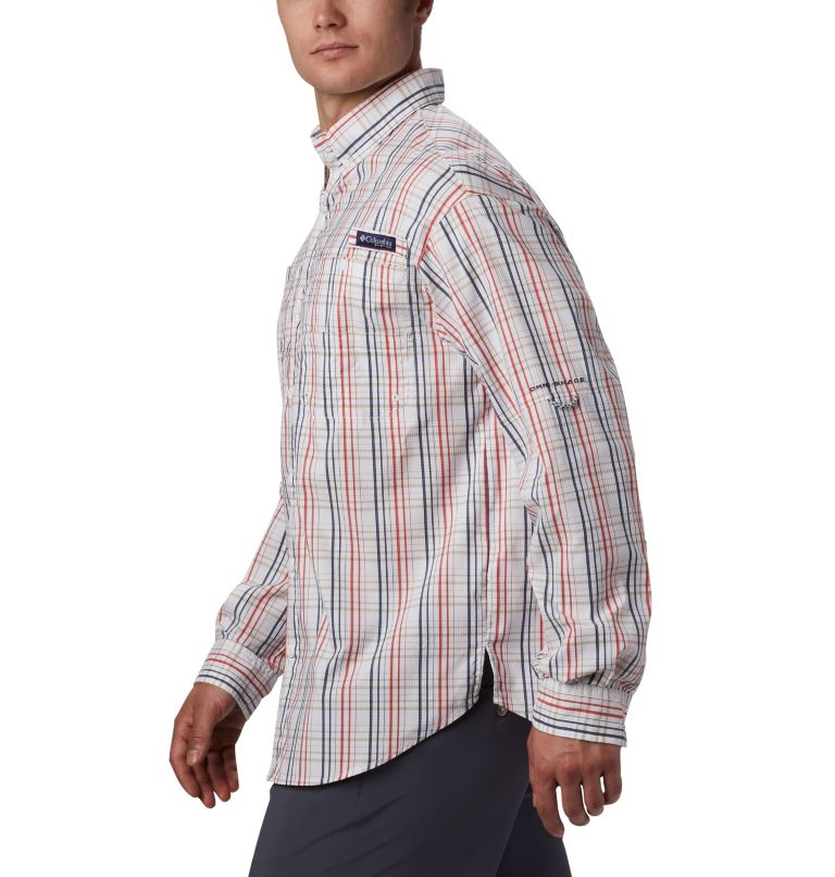 Super Tamiami™ LS Shirt | 697 | S Men's PFG Super Tamiami™ Long Sleeve Shirt, Red Spark Small Check, a4