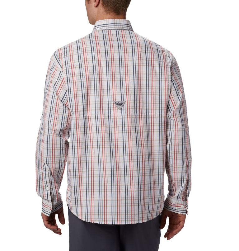 Super Tamiami™ LS Shirt | 697 | S Men's PFG Super Tamiami™ Long Sleeve Shirt, Red Spark Small Check, back