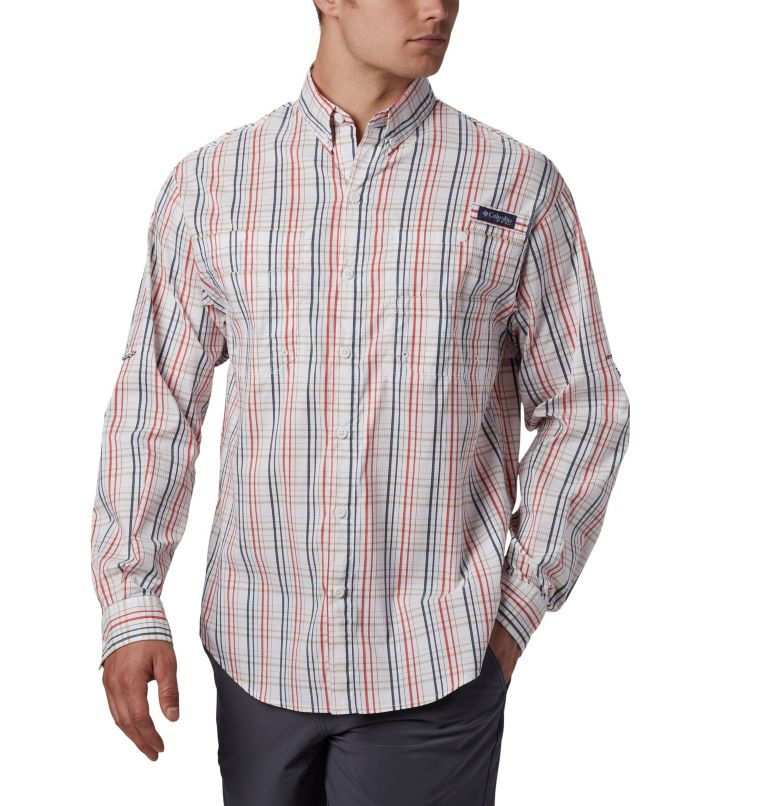 Super Tamiami™ LS Shirt | 697 | S Men's PFG Super Tamiami™ Long Sleeve Shirt, Red Spark Small Check, front