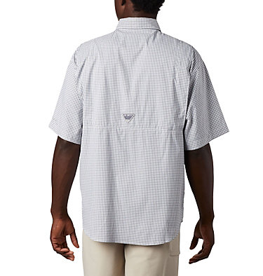 Men's PFG Super Tamiami™ Short Sleeve Shirt Super Tamiami™ SS Shirt | 012 | S, Black Gingham, back