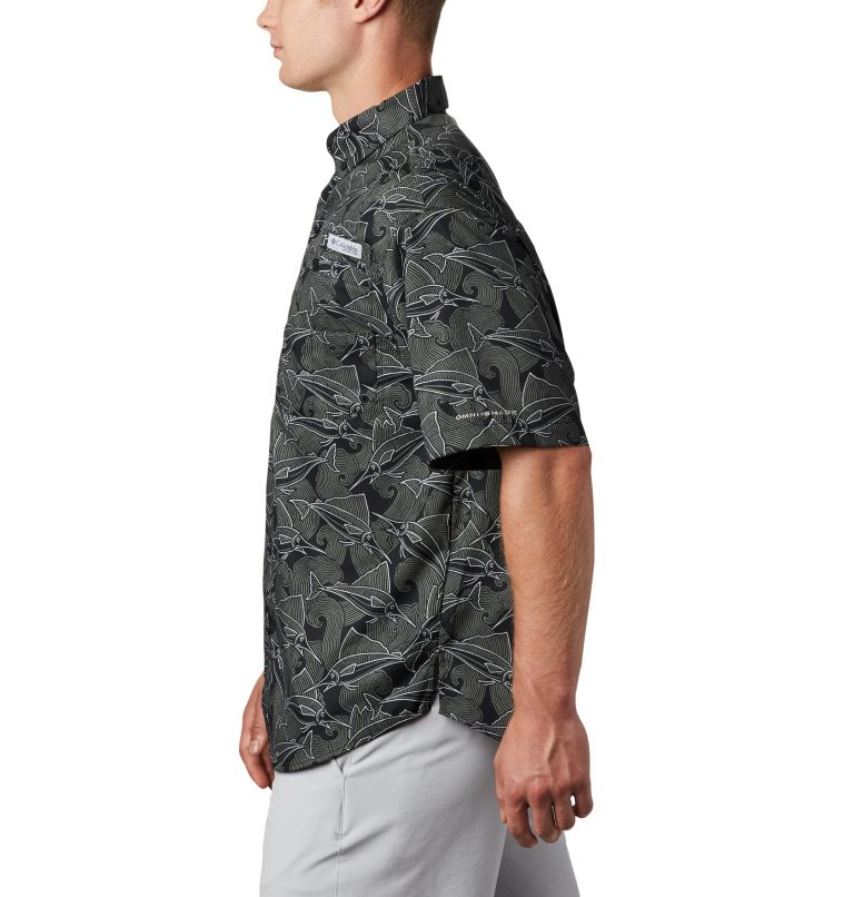 Super Tamiami™ SS Shirt | 014 | L Men's PFG Super Tamiami™ Short Sleeve Shirt, Black Fish Wave Print, a1