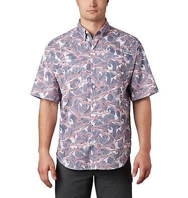 Men's PFG Super Tamiami™ Short Sleeve Shirt Super Tamiami™ SS Shirt | 014 | L, White Fish Wave Print, front