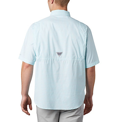 Men's PFG Super Tamiami™ Short Sleeve Shirt Super Tamiami™ SS Shirt | 012 | S, Bright Aqua Gingham, back