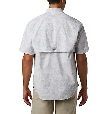 Men's PFG Super Bahama™ Short Sleeve Shirt Super Bahama™ SS Shirt | 342 | XL, Cool Grey Tuna Time Print, back