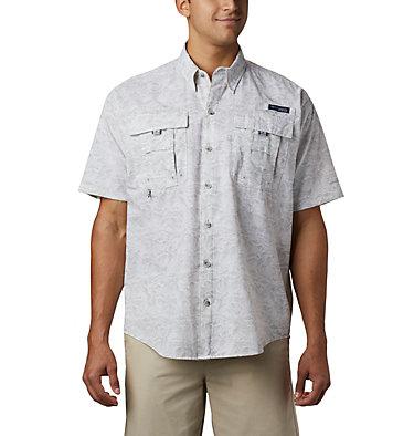 Men's PFG Super Bahama™ Short Sleeve Shirt Super Bahama™ SS Shirt | 342 | XL, Cool Grey Tuna Time Print, front
