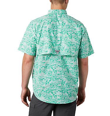 Men's PFG Super Bahama™ Short Sleeve Shirt Super Bahama™ SS Shirt | 342 | XL, Dark Lime Tuna Time Print, back