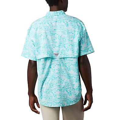 Men's PFG Super Bahama™ Short Sleeve Shirt Super Bahama™ SS Shirt | 342 | XL, Bright Aqua Tuna Time Print, back