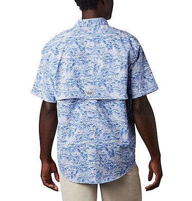 Men's PFG Super Bahama™ Short Sleeve Shirt Super Bahama™ SS Shirt | 342 | XL, Vivid Blue Tuna Time Print, back